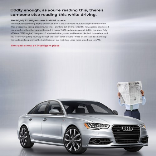Audi - Newspaper Guy